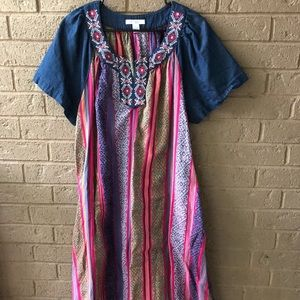 Vintage Festival Dress with Embroidery